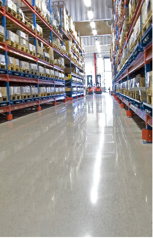Commercial Unit Polished Concrete Floor