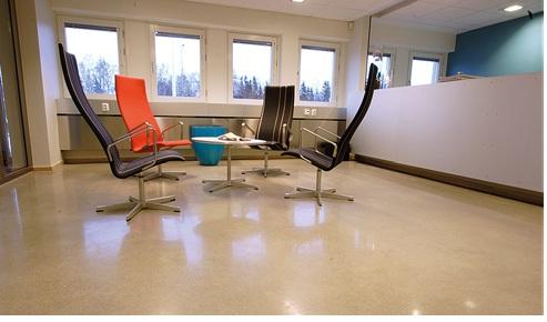 Polished concrete floor - Office area